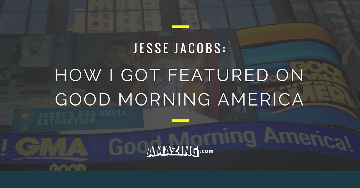 How I Got Featured on Good Morning America