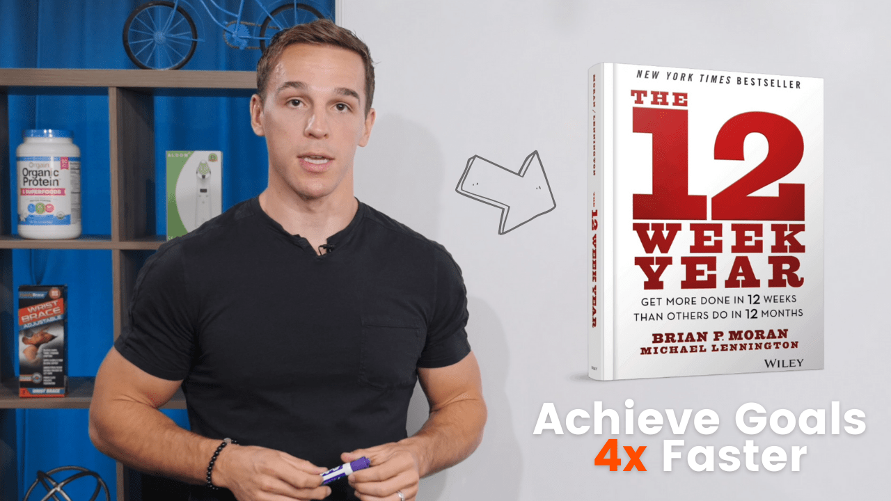 featured image: 12 week year achieve goals 4x faster